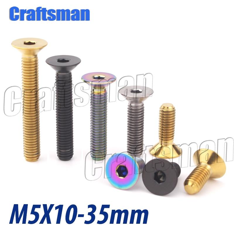 1 Uds titanio Ti M5 x 10 12 15 20 25 35mm...