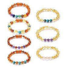 Fashion Baby Bracelet Natural Beads Newborn Infants Teething Bracelets Jewelry Bangles Gifts