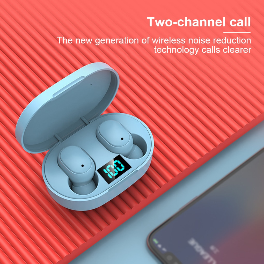 Get E6S TWS Bluetooth 5.0 Earphone sport Earbuds microphone with charging box For smartphoneWireless Headphone Stereo Headset