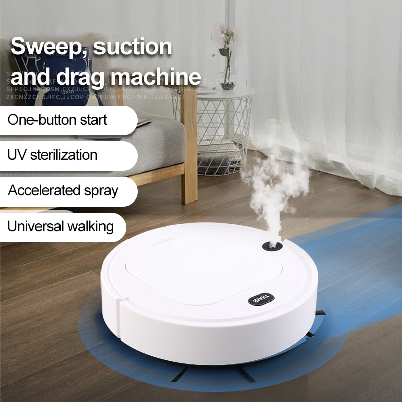 5 In 1 Robot Vacuum Cleaner UV Disinfection USB Smart Sweeping Robot Automatic Sweeper Mopping Spray Home Floor Cleaning Machine 3 in 1 robot vacuum cleaner usb rechargeable smart sweeping robot automatic sweeper strong suction home floor cleaning machine