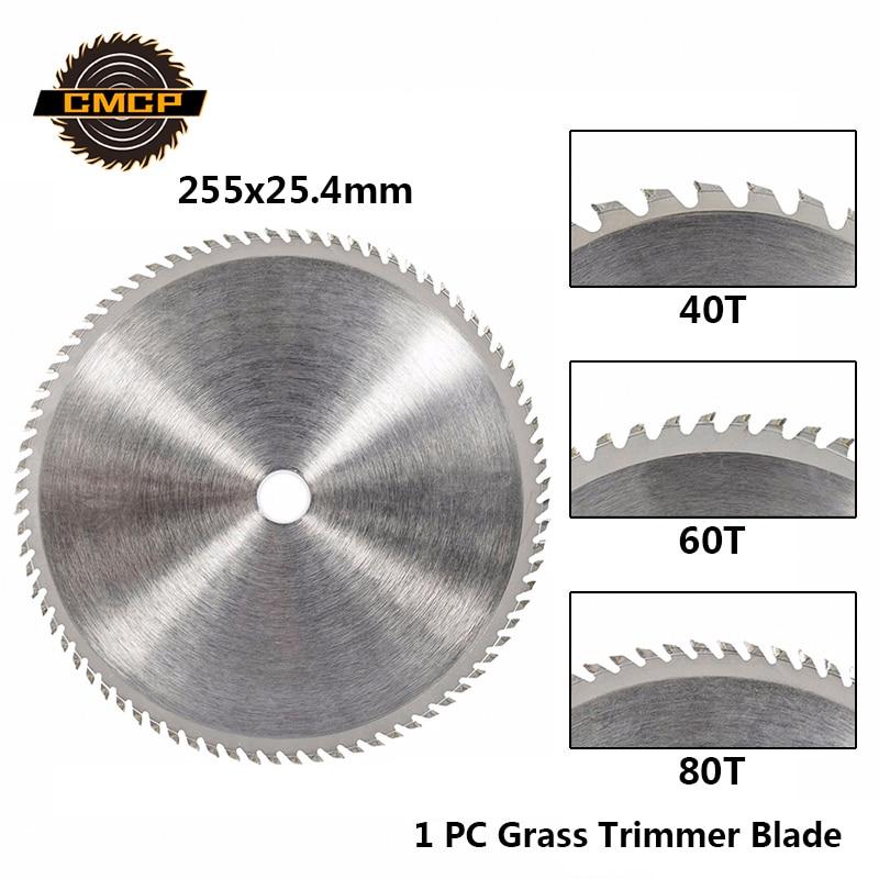 CMCP 40/60/80T Brush Cutter Blade Lawn Mower Cutter 255mm Circular Saw Blade For Lawn Mower Garden Tools