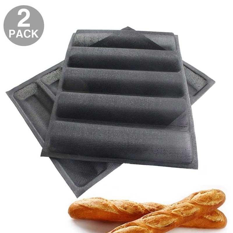 2 قطعة أشكال سيليكون Moldes الفقرة عموم مترو الانفاق الخبز شكل الخبز عموم الخبز مجموعات/رغيف عموم غير عصا الغذاء الصف