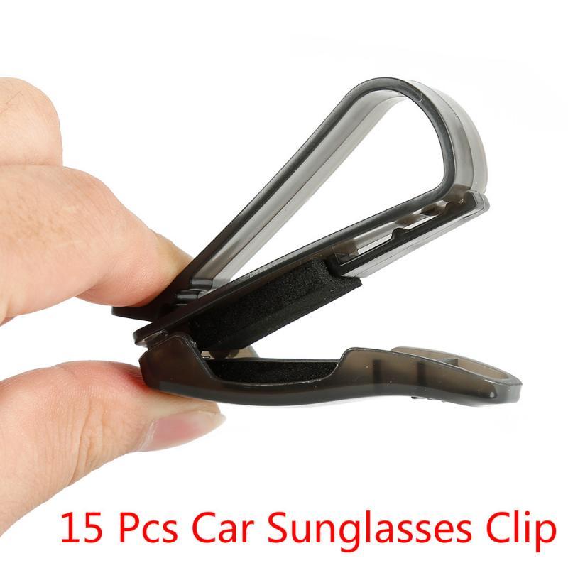 Portátil universal óculos de sol viseira casos óculos de sol titular carro prendedor clipe marroquino decoração do carro ornamento