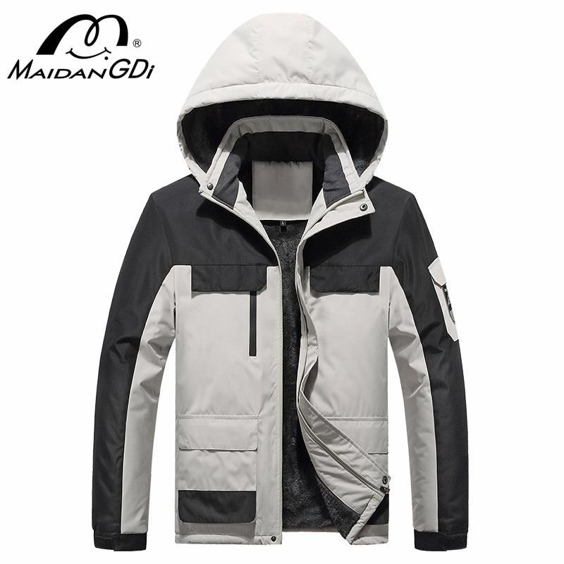 MAIDANGDI 2021 Winter New Coats For Men Teenager 100% Solid Cotton Streetwear Fashion Jackets Windproof Waterproof Sportswear