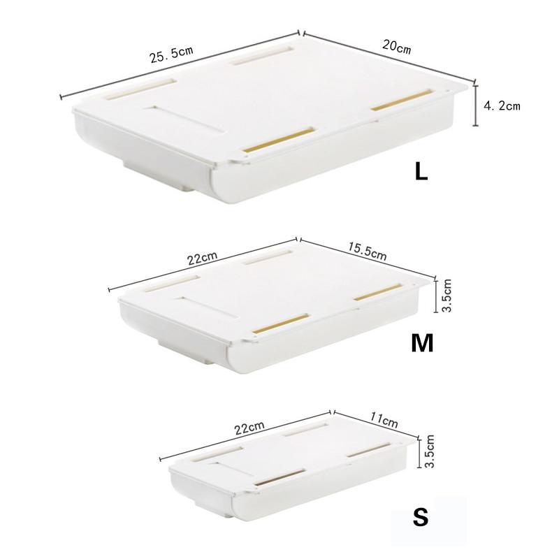 Dulang pensil tongkat diri di bawah laci meja, penyusun simpanan, - Organisasi dan penyimpanan di dalam rumah - Foto 6