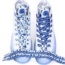 1 Pair Shoelaces Flower Printing Fashion Women Men Shoes Laces Canvas Sneakers Shoelace Sports Shoel