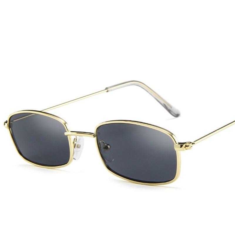 Metal Frame Clear Lens Sun Glasses Unisex Small Retro Shades Rectangle Sunglasses Colorful UV400 Eye