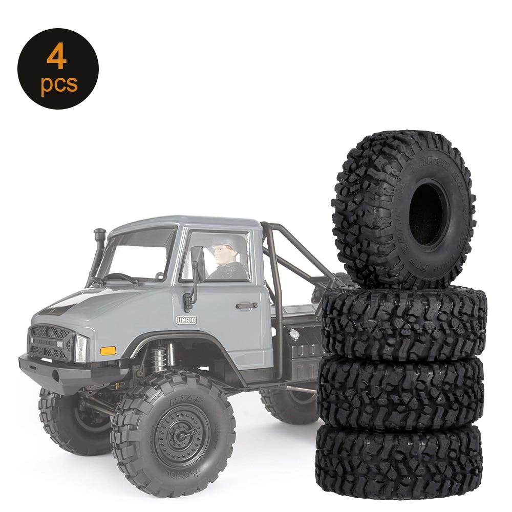4 pçs 2.2in 1.9in aro universal rc pneus de carro sem aro para 1/10 rc rock crawler traxxas trx4 trx6 axial scx10 90046 rc4wd