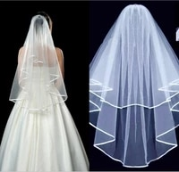white ivory elbow wedding veils tier bridal accessories bride length comb prom