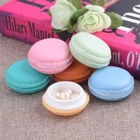 jewelry gifts box 6pcsset mini earring package decoration cute organizer case necklace lovely color candy storage macarons