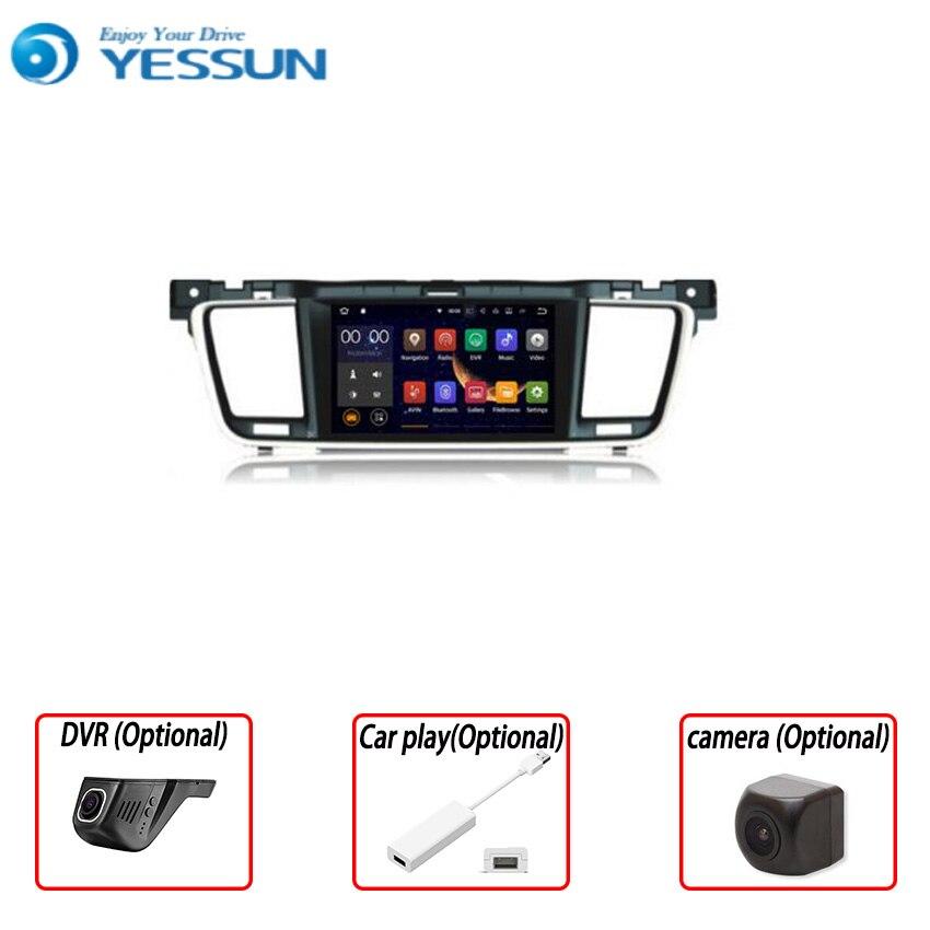 YESSUN 2 din para Peugeot 508 2011 ~ 2016, reproductor de DVD navegador GPS Multimedia para coche Android, Audio, vídeo, Radio, pantalla multitáctil