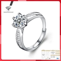moissanite ring 925 silver fashion design strong fire 1 0ct 2 0ct dcolordiamond high hardness