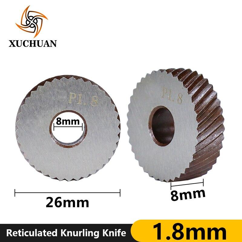 Rueda de moleteado reticulada de 1,8mm, torno de moleteado, cortador de engranaje de moleteado, herramienta de torno de acero, cuchillo de moleteado reticulado