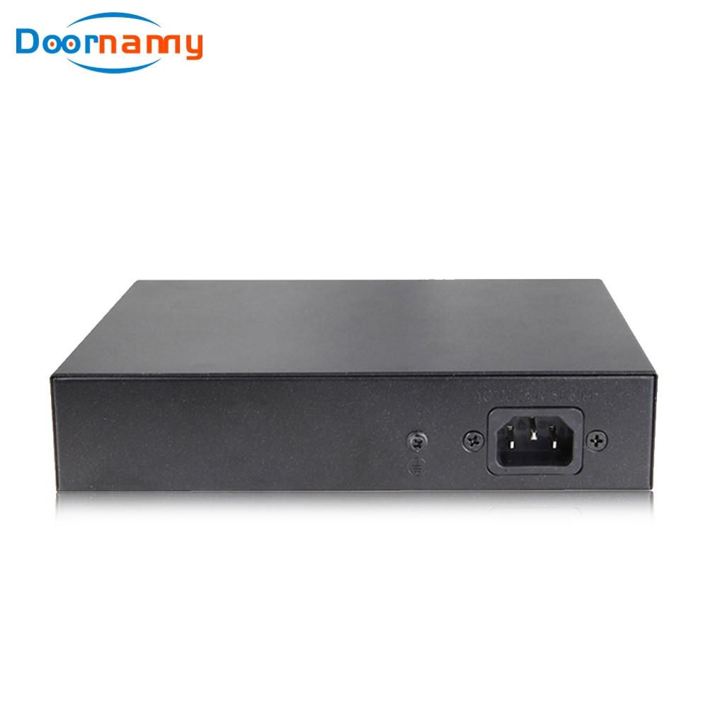 Doornanny PoE Switch 8Port Network Switch 48V 2+8 Ports Ethernet IEEE 802.3af/at For IP camera/Wireless AP/CCTV Camera 250m enlarge