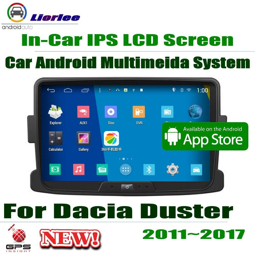 "Dacia Duster 2011 ~ 2017 navegación GPS Carplayer sistema Android RockChip PX5 1080P 8 ""HD IPS pantalla LCD unidad frontal de Radio"