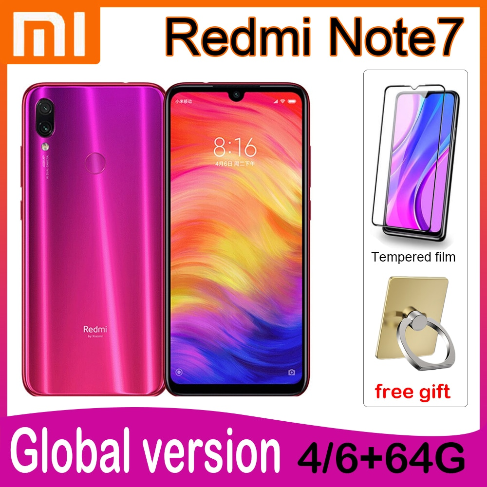 Redmi Note7 Smartphone Android Cellphone 10W Fast Charge 48MP Snapdragon 660AIE 6.3 Inches Face/Fingerprint Recognition 4000mAh