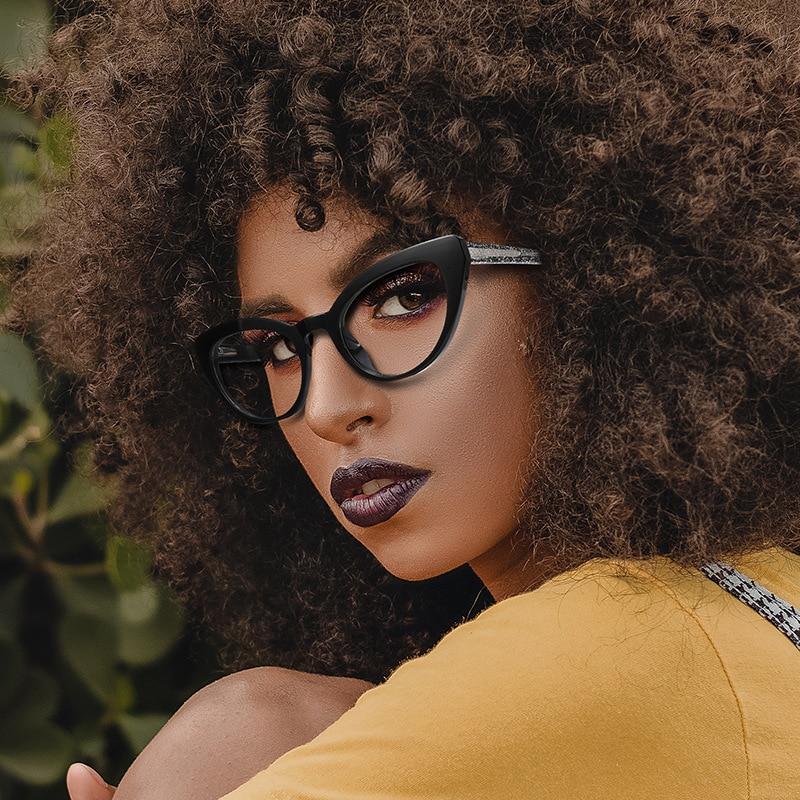 Women Sexy Shinny Cat Eye Reading Glasses Spring Hinge TR90 Female Presbyopia Eyewear Eye Glasses +1.25 +1.5 +1.75 +2.25 +2.75