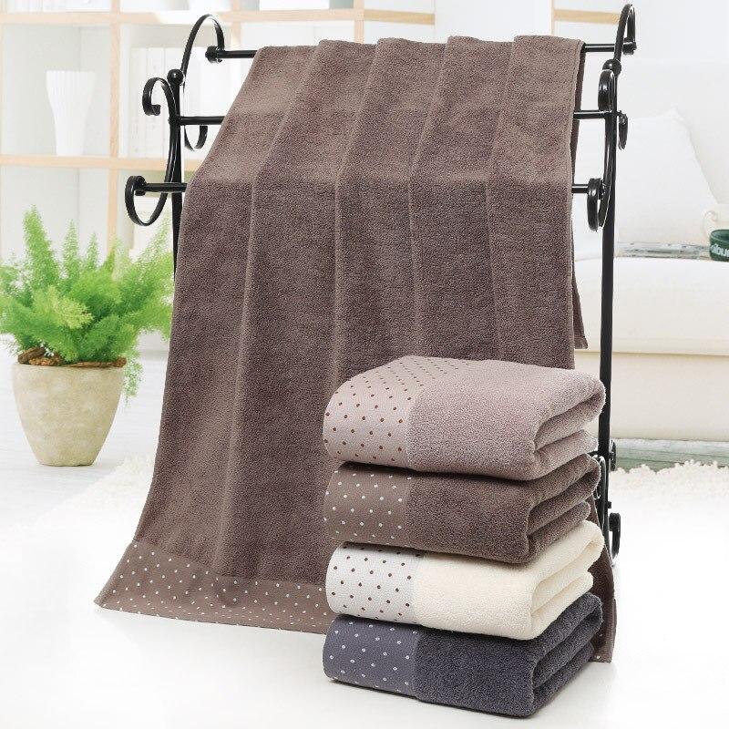 70x140cm Toalla de baño de algodón grande toalla sólida de lujo gruesa para toallas de baño de SPA para adultos egipcio toalla de playa