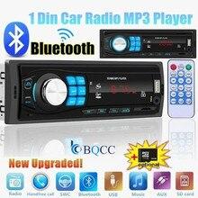 Autoradio Single 1Din Bluetooth Car Stereo Audio In-Dash FM AUX Input Receiver USB MP3 Radio Player