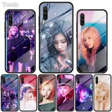 Deux fois Mina Momo Kpop étui pour samsung Galaxy S20 S10 S10e S9 S8 Note 10 Plus 5G A70 A50 verre trempé couverture de téléphone à bord souple