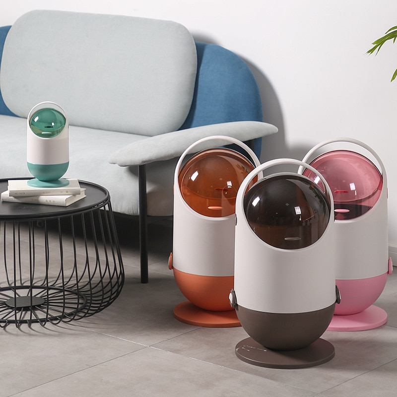 Creative Cute Trash Can Plastic Living Room Simple Waterproof Round Trash Can Kitchen Storage Rangement Cuisine Home Products 50 enlarge