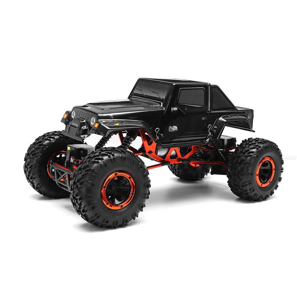 Leadingstar hsp 94180 2.4g 2wd 1/10 rock crawler 320a esc escova impermeável rc carro