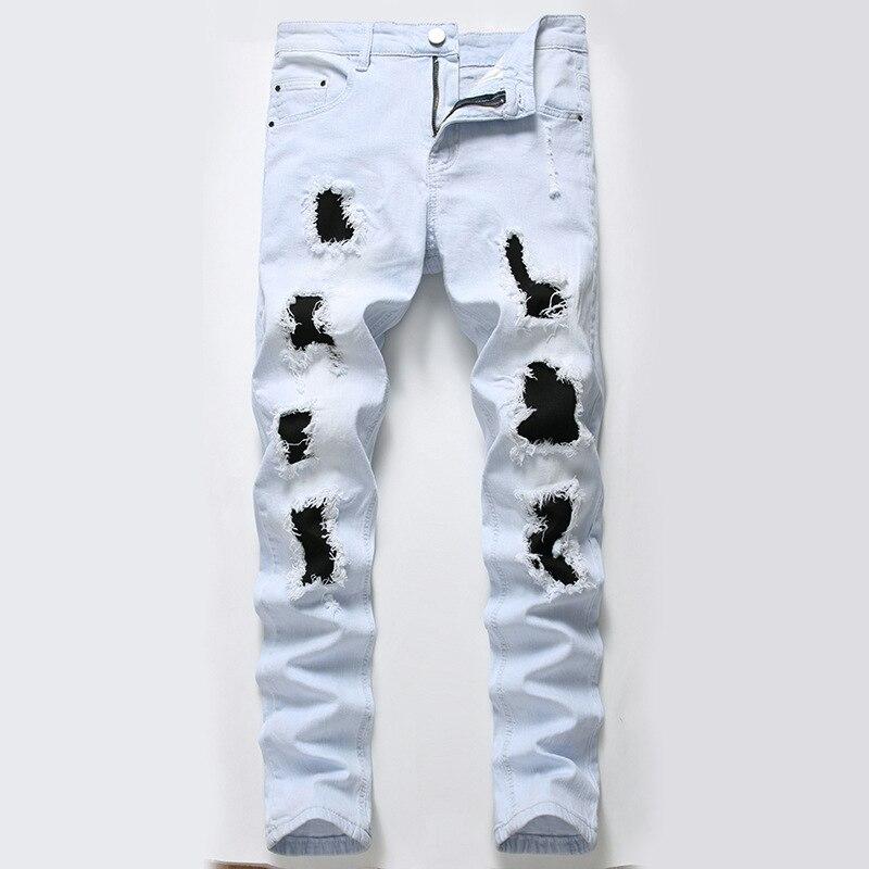Новые мужские джинсы, мужские узкие эластичные узкие прямые джинсовые брюки, повседневные джинсовые брюки, мужские бриджи 42