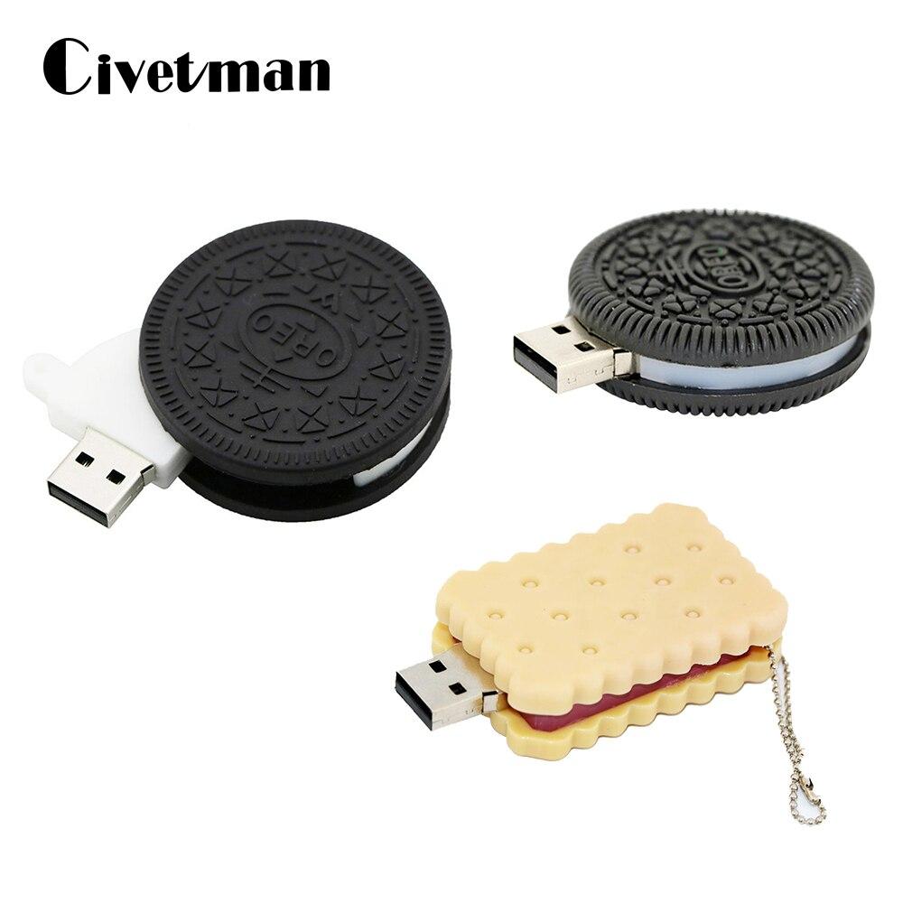 Флеш-накопитель с Oreo модель печенья USB флэш-накопитель 256 ГБ флэш-накопитель 8 Гб оперативной памяти, 16 Гб встроенной памяти, 32 ГБ, 64 ГБ, 128 ГБ USB ...