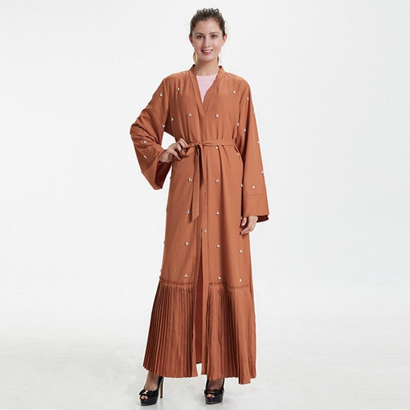 Mulheres Muçulmano Longo Robe Jilbab Maxi Vestido Ramadan Árabe Islâmico Roupas Casuais Kaftan Abaya Dubai Hijab Vestidos Sl1754 2022