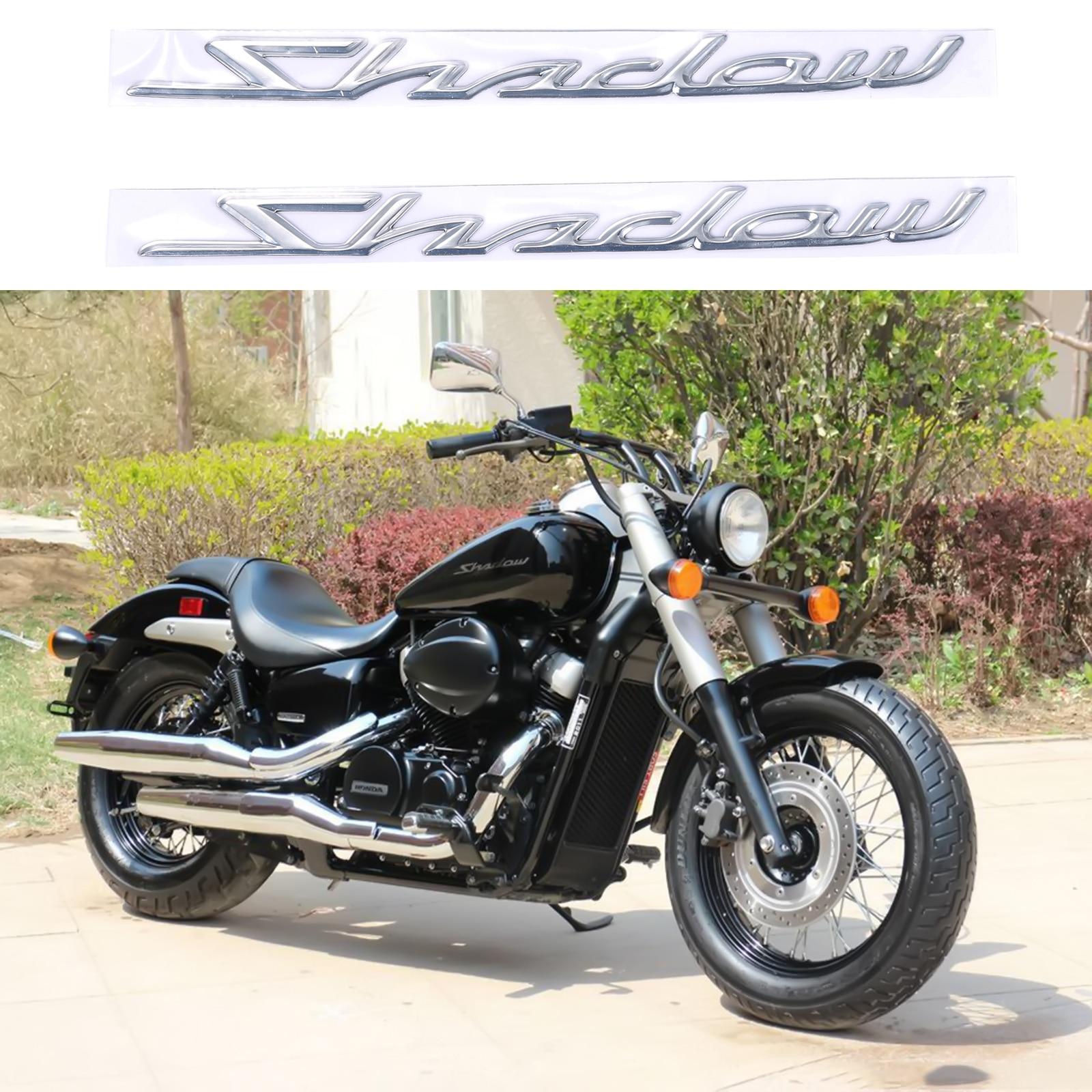 2 шт. 3D стереоскопический Бензобак хромированная Наклейка для Honda Shadow Spirit Sabre Aero ACE VT750 аксессуары для мотоциклов
