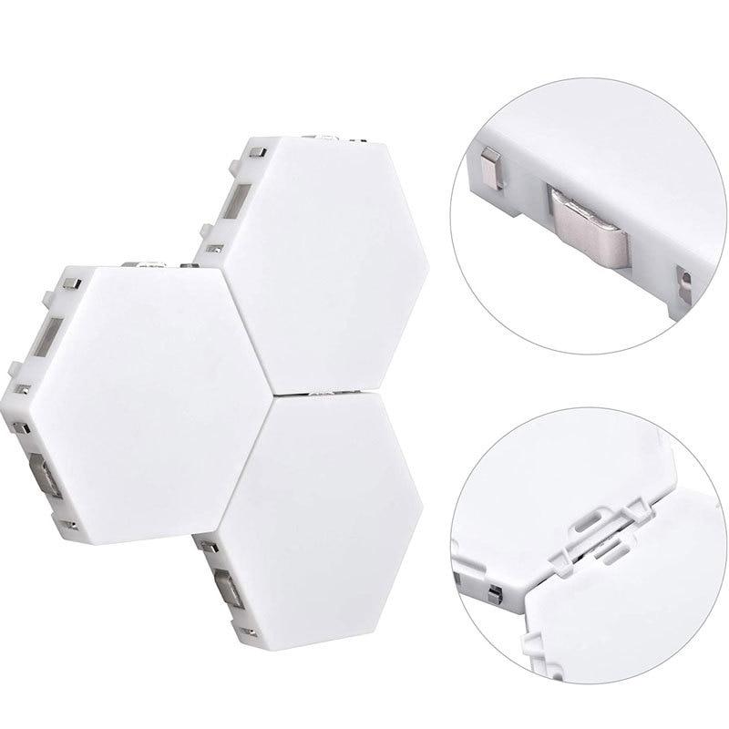LED Quantum Light DIY Hexagonal Module Touch Sensitive Sensor Night Lamp Colorful Honeycomb Creative For Home Decorate Lighting enlarge