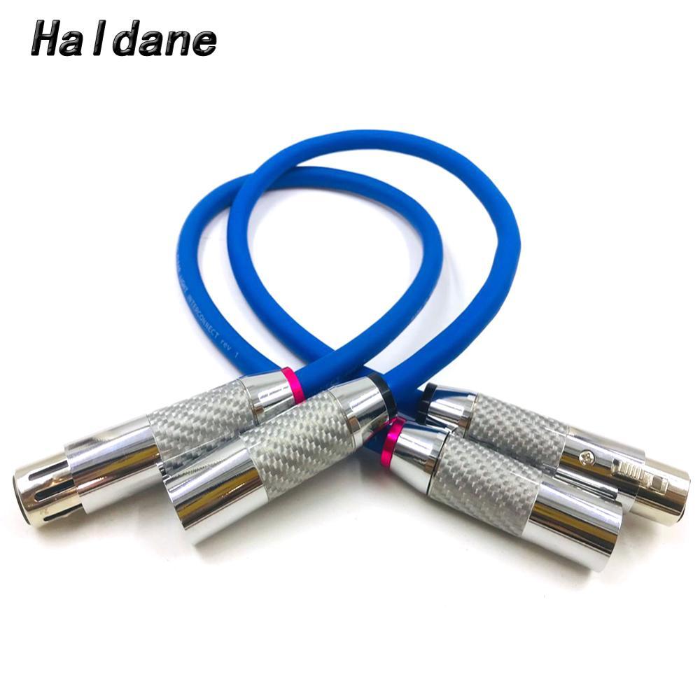 Cable de fibra de carbono claro Haldane CARDAS 2x 3pin XLR, Cable equilibrado, amplificador de reproductor de DVD, Cable de Audio de interconexión macho a hembra