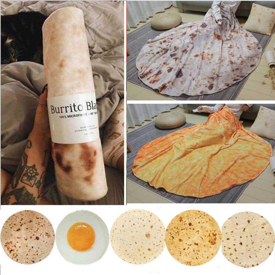 WOSTAR suave de franela caliente burrito mantas 200Gsm forma redonda tirar mantas...