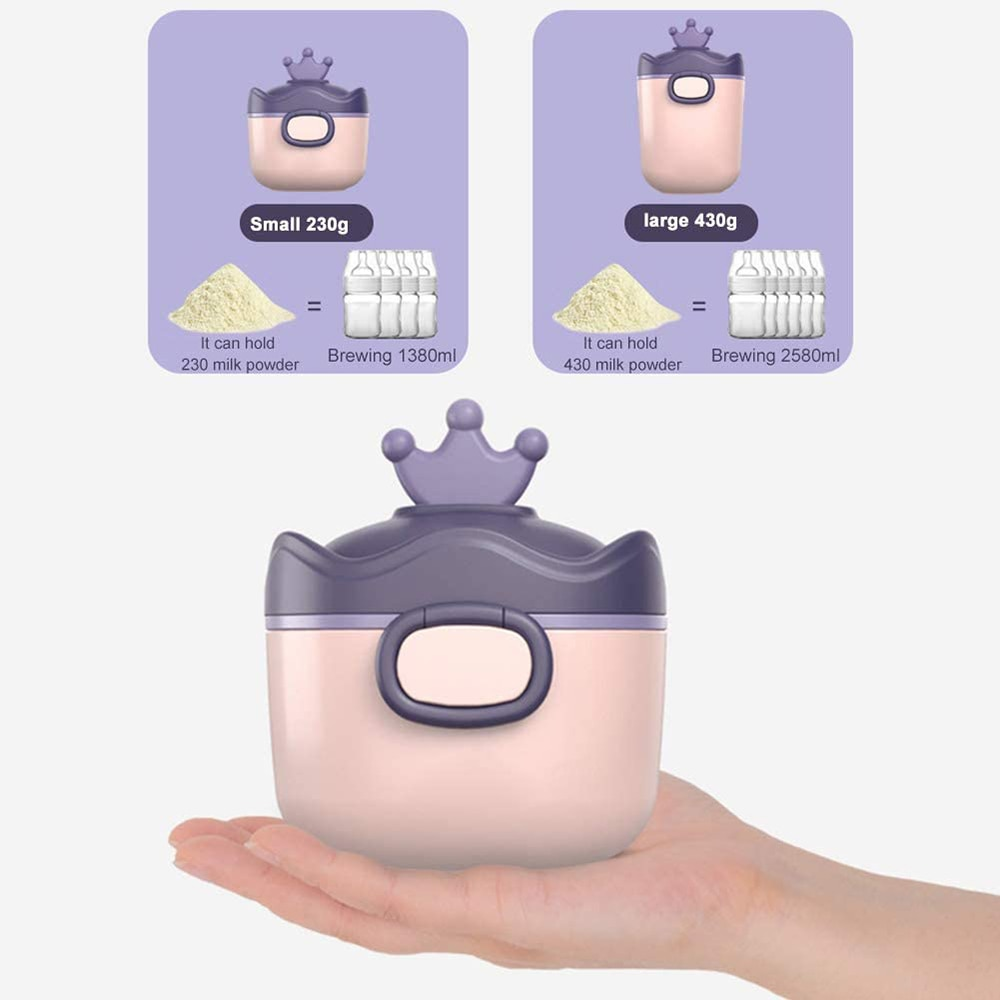 Portable Baby Food Storage Box BPA Free Formula Dispenser Cartoon Infant Milk Powder Box Toddler Snacks Cup Container