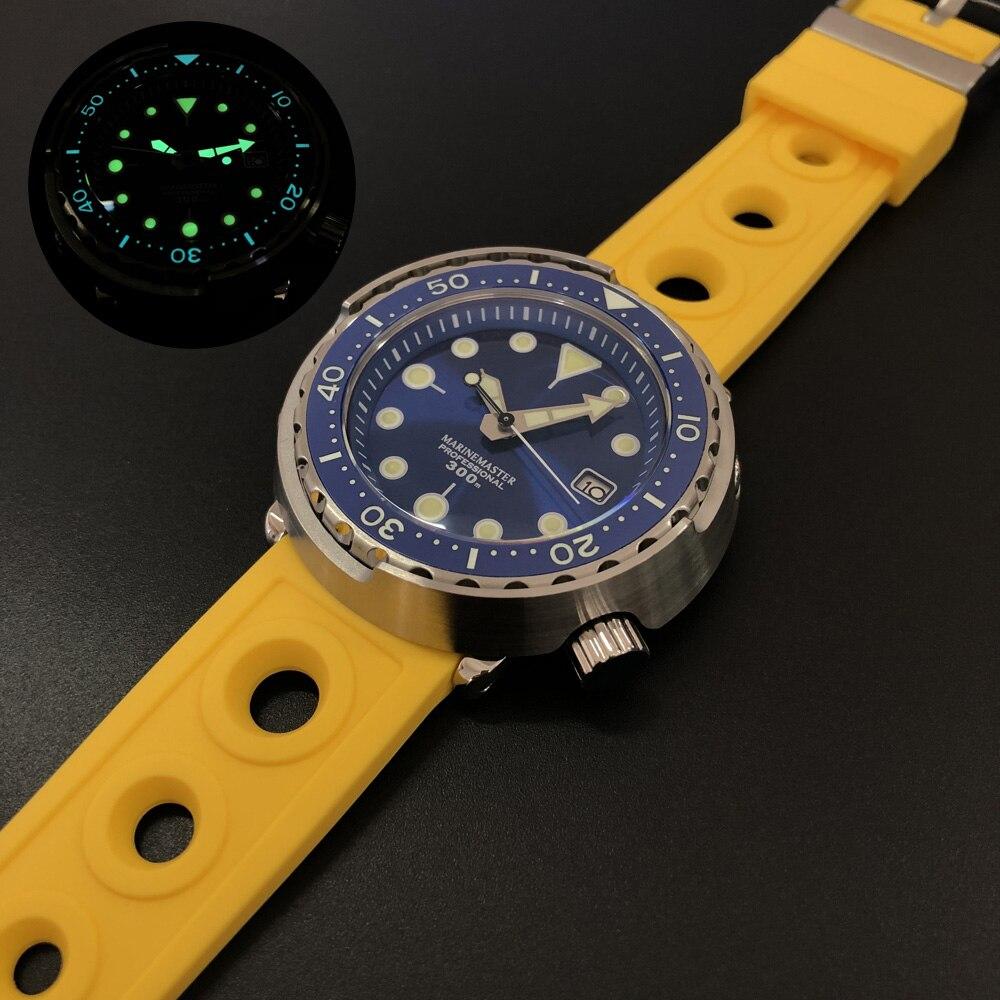 Relógio mecânico automático 30atm à prova dc3 água relógio de pulso suíça c3 luminoso relogio homem
