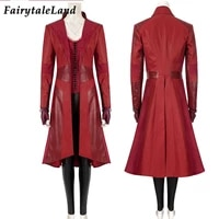 civil war cosplay superheroine costume witch wanda role playing outfit with jacket fancy halloween party fashion clothes