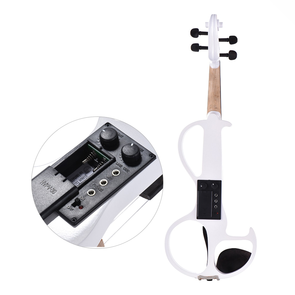 Student Fiddle Full Size 4/4 Electric Violin +Bow +Case+Rosin+Bridge+Cable+Headphone Silent Violin Effect Pedal Use Violin enlarge