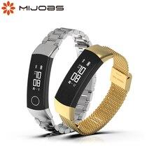 Pour Honor Band 3 4 5 sangle Bracelet intelligent Bracelet métal milanais poignet montre intelligente Bracelet dhonneur 4 pour Huawei Honor Band 5 sangle