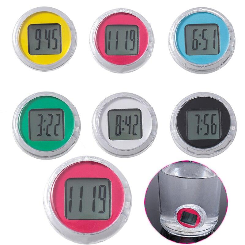 1 Pcs New Mini Motorcycle Clocks Watch Waterproof Stick-On Motorbike Mount Watch Moto Digital Clock with Stopwatch