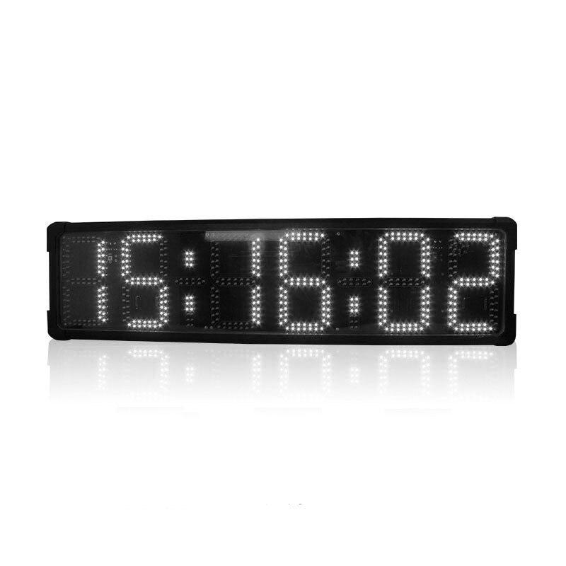 """8 """"grande singel-sided relógio à prova d água LEVOU contar até temporizador esportes relógio digital eletrônico com sistema de cronometragem corrida"""
