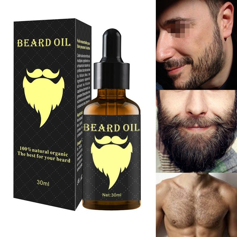 100% natural acelerar o cabelo facial crescer barba óleo essencial cabelo e barba crescimento óleo men barba grooming produtos tslm1