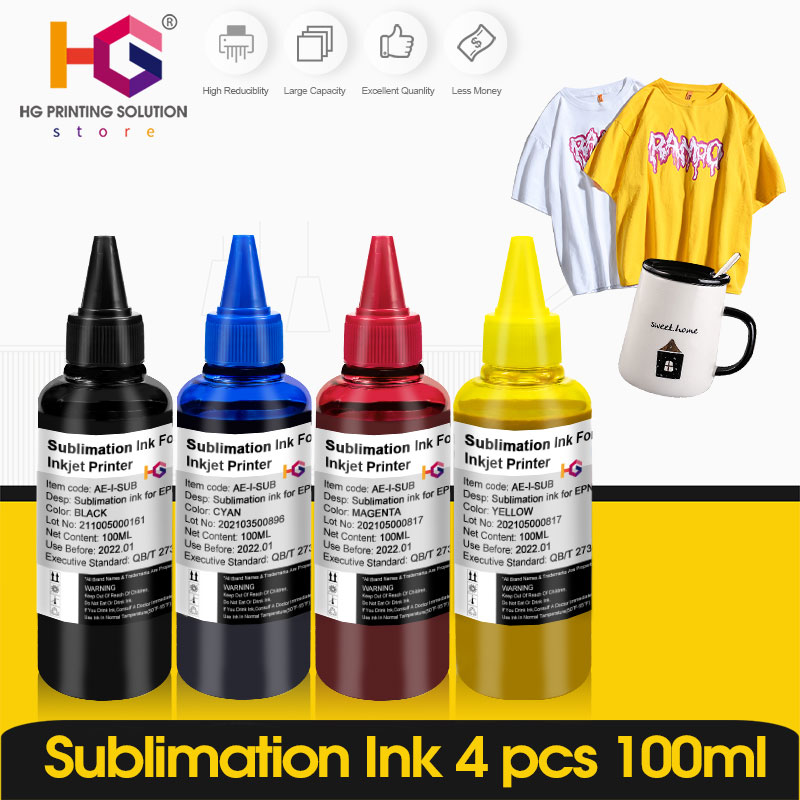 1-5 Pcs Refill Sublimation Ink For Epson L805 L1800 P50 1390 1400 1410 Heat Transfer Press For All Epson Inkjet Printer