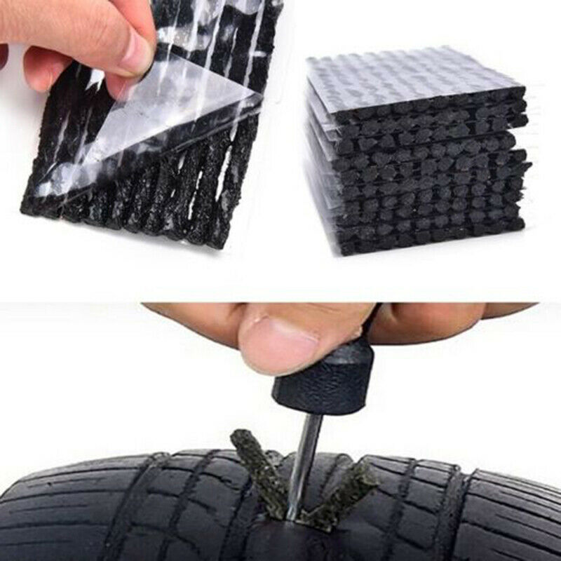Tubeless Tire Repair Seal Strip Car Tyre Repair Recovery Tools For Auto Motorcycle Bike Tire Puncture Emergency Kit multi function car tire balance pliers tire repair clamp auto wheel tyre repair remove balancing weight pliers metal tools