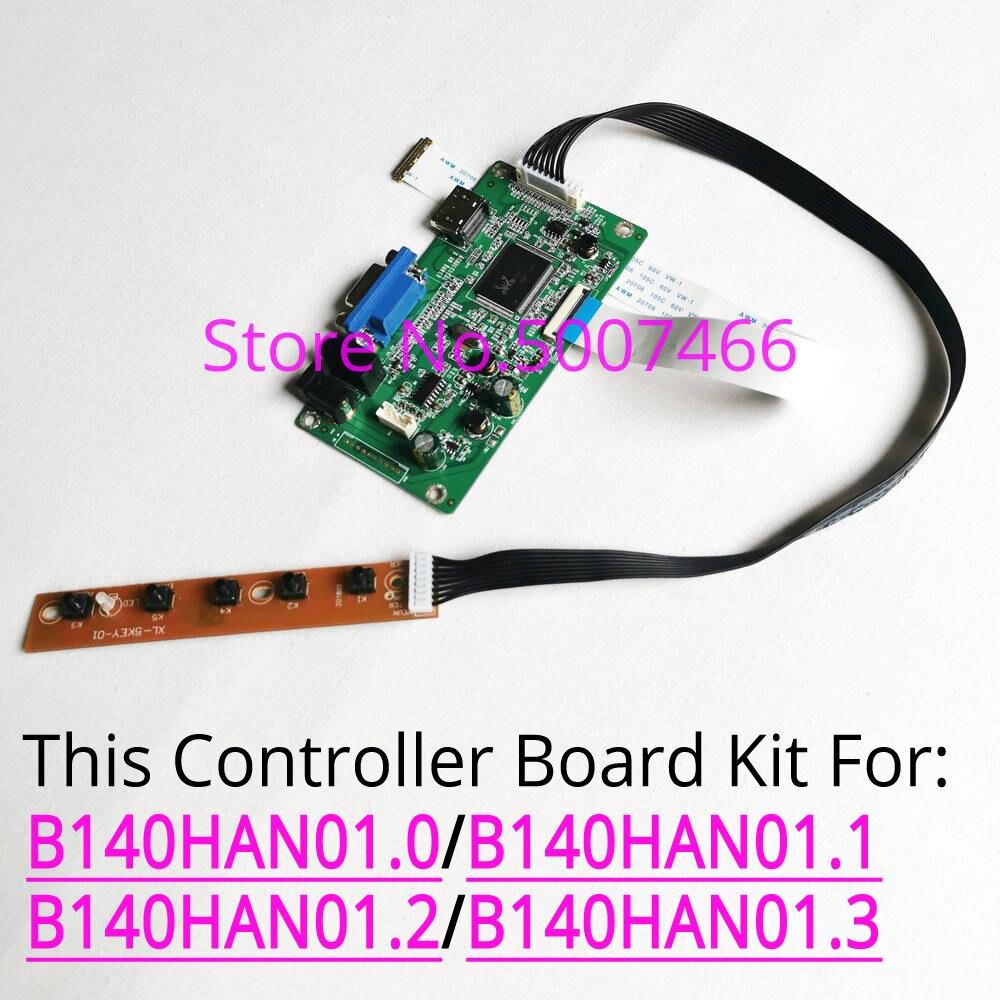 Para B140HAN01.0/B140HAN01.1/B140HAN01.2/B140HAN01.3 pantalla LCD 1920*1080 EDP 30Pin HDMI + VGA monitor panel kit de placa controladora