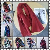 spanish desigual ladies fashion popular logo scarf shawl printed flower character long towel silk thickening shading and warm