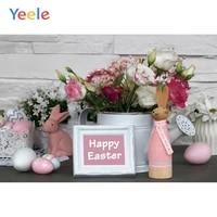 yeele photophone easter decor rabbit eggs flowers scene photographic backdrops photography backgrounds for photo studio shoots