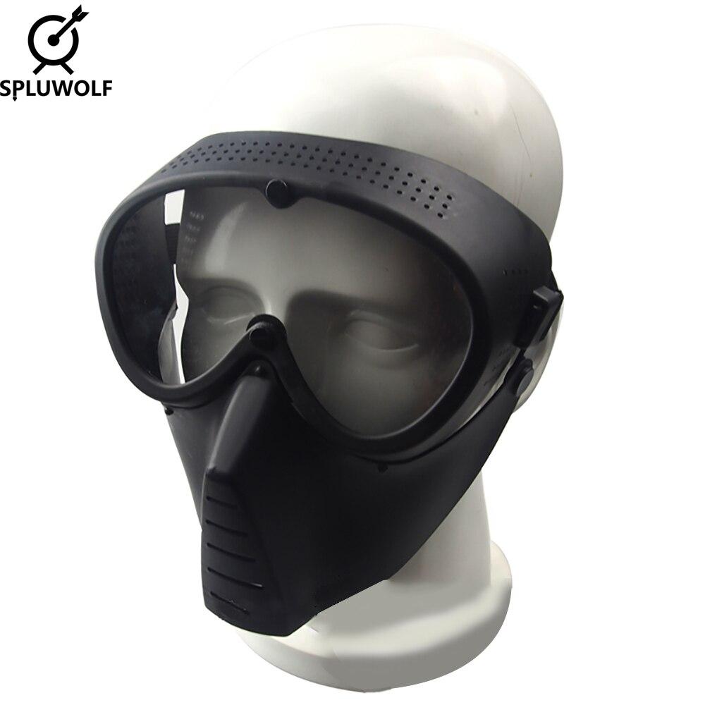 Полнолицевая тактическая маска военный страйкбол с очками пейнтбольная маска Бесплатная доставка