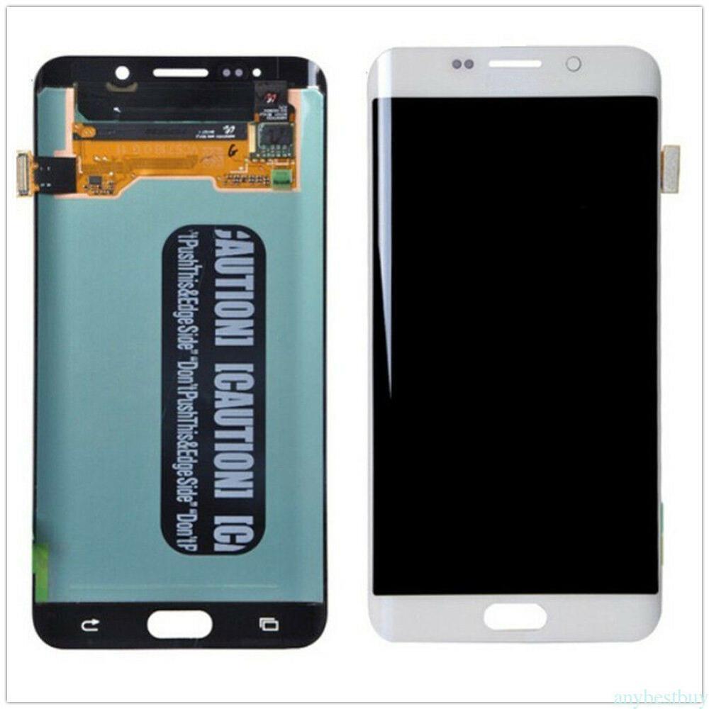 الأصلي 5.7 ''AMOLED LCD لسامسونج غالاكسي s6 حافة زائد G928 G928F شاشة تعمل باللمس محول الأرقام عرض الأحمر حرق