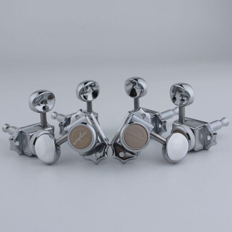 1 conjunto 3r3l guyker chrome bloqueio tuners de corda do vintage tuners máquina cabeças tuners