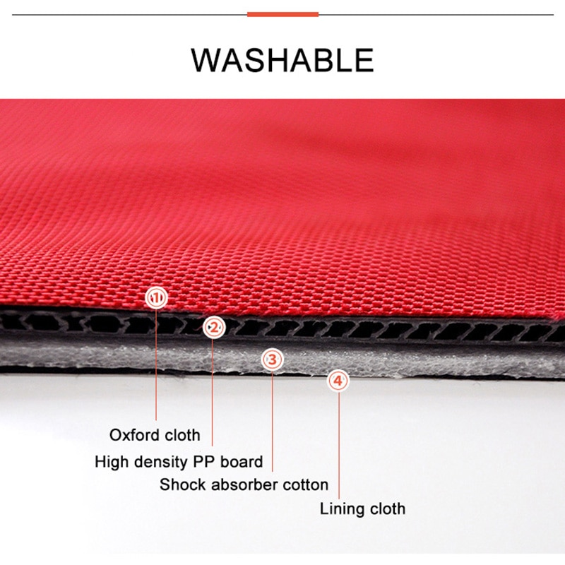High Quality PP Board Stowing Tidying Waterproof Car Trunk Organizer Foldable Storage Bag Cargo Storage Box Car Accessories enlarge